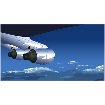 Vector view from airplane Stock Vector - 5219538
