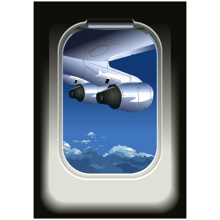 Vector view from airplane Stock Vector - 5243751