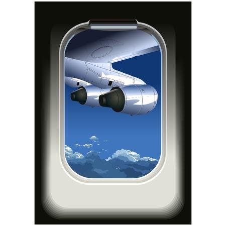 view from the plane: Vista de vector de avi�n