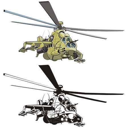 helicopters: Vector cartoon helicopter