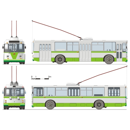 trolleybus: Vector hi-detailed urban trolleybus