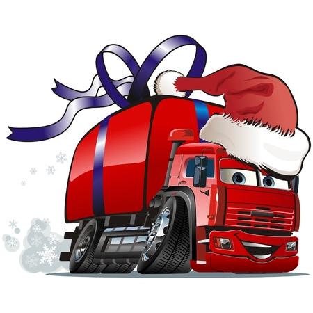 Vector Christmas Lieferwagen