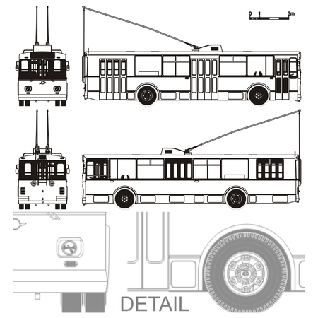trolleybus: detailed trolleybus draw