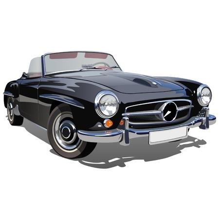 Vector retro sport car