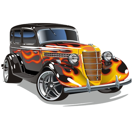 Vector retro hotrod Stock Vector - 5749235
