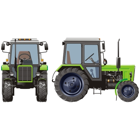 agricultural machinery: Detailed tractor