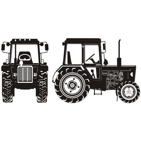 tractores: silueta del tractor