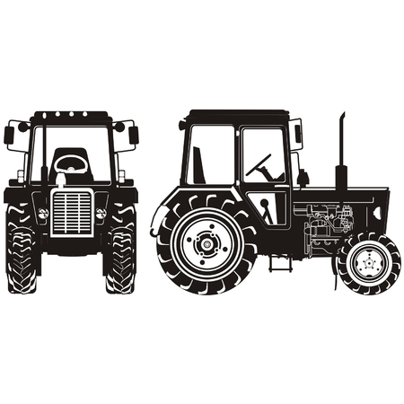 agricultural machinery:  tractor silhouette