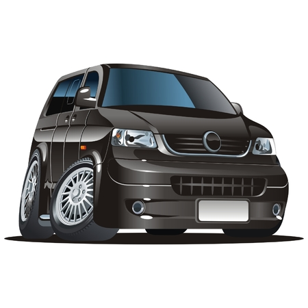 vw: cartoon van