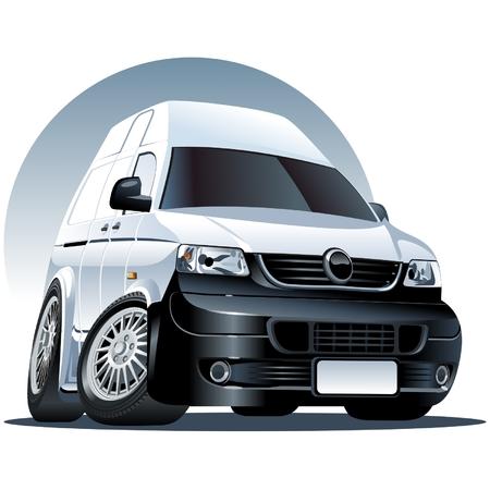 mini bus: cartoon delivery van  Illustration