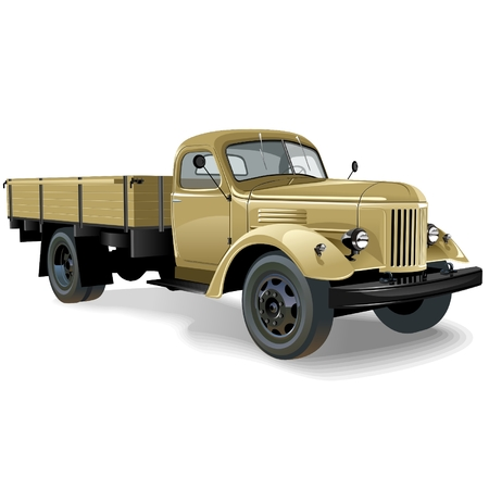 russian car: retro lorry isolated