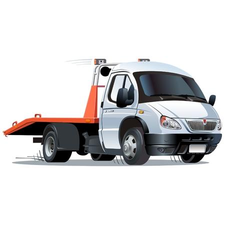 cartoon tow truck Vetores