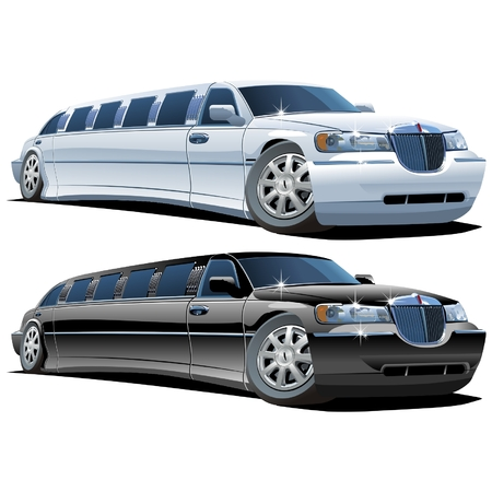 limo: cartoon limousines