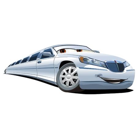 cartoon limousine Vector