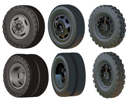Truck wheels set Stock Vector - 6466807