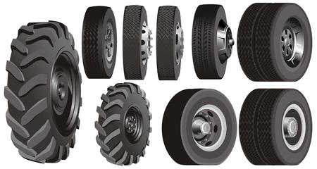 Truck wheels set Stock Vector - 6466808