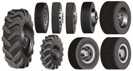 tyre tread: Truck wheels set