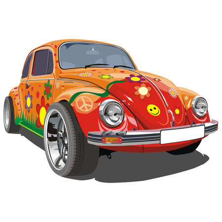 Hippie Bug Vector