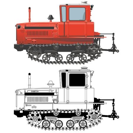 Hi-detailed tractor Vector