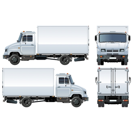 commercial vehicle: Vector delivery  cargo truck