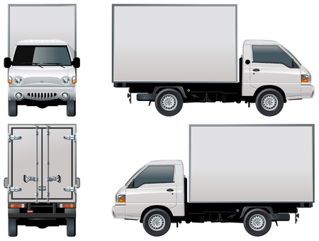 small business: Vector delivery  cargo truck