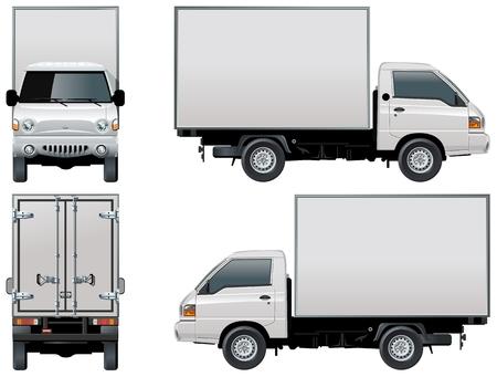 scheinwerfer: Vector Lieferung  Cargo Truck Illustration