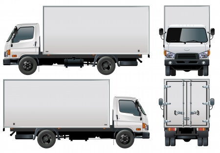teherautók: Vector delivery  cargo truck