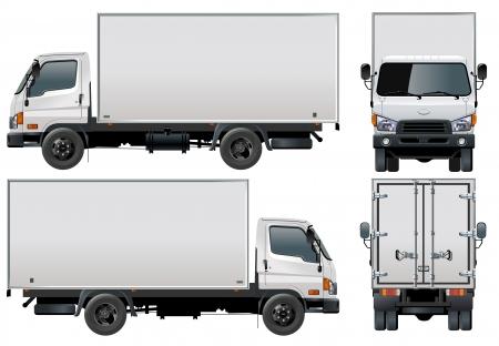 heavy fuel: Vector delivery  cargo truck