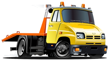 tow: cartoon tow truck
