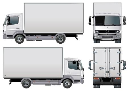 ciężarówka: dostawy  ładunku ciężarówka  Ilustracja