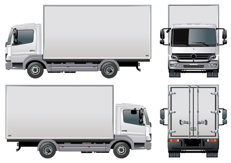 trailer: entrega  cami�n de carga  Vectores