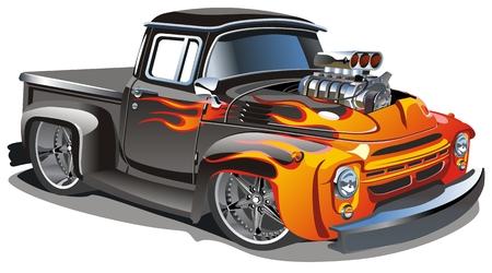 carro bomberos: dibujos animados trucado  Vectores