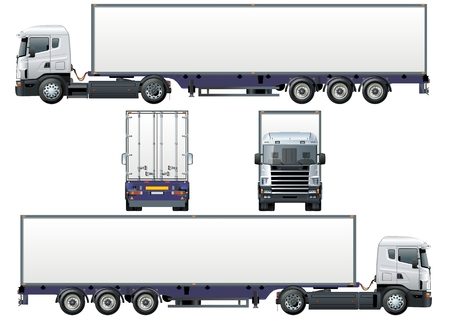ar: cargo semi-truck Illustration