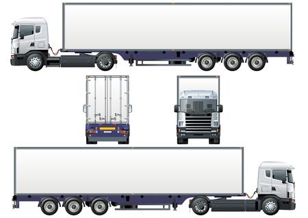 remolques: semi-truck de carga