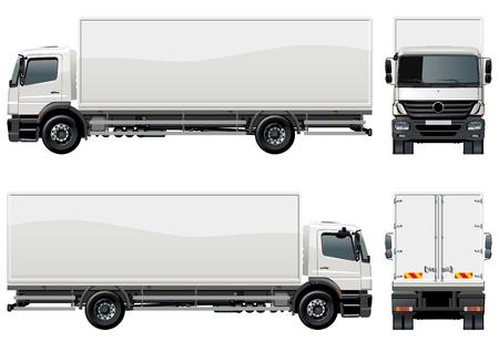 ciężarówka: dostawy  Å'adunku ciężarówka  Ilustracja