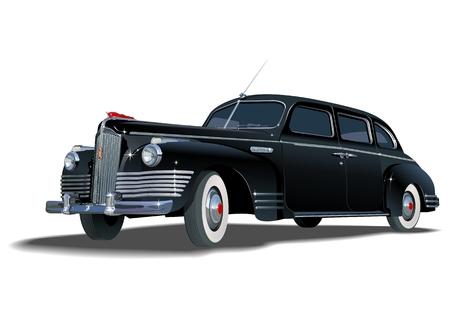 retro limousine Stock Vector - 7603547