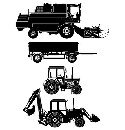cosechadora: conjunto de veh�culos agr�colas detallada
