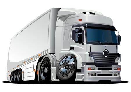 diesel engine:  cartoon delivery  cargo semi-truck Illustration