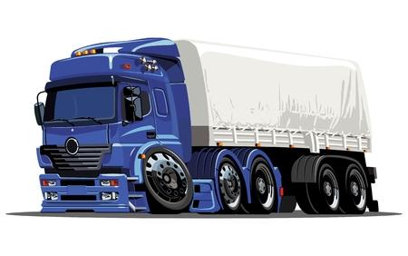 cartoon cargo semi-truck Stock Vector - 7826975