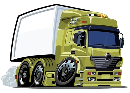 loading truck: cartoon delivery  cargo truck Illustration