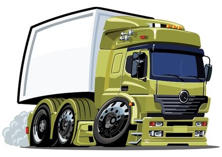 loading truck: cartoon delivery  cargo truck Illustration