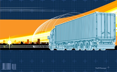 logistics theme background Stock Vector - 8007281