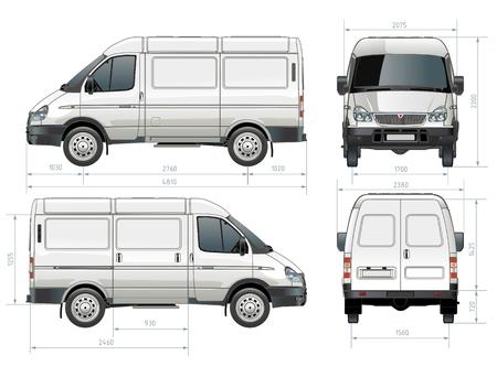 delivery / cargo van Stock Vector - 8007283