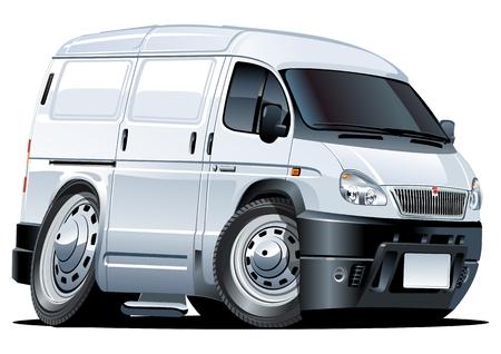 commercial vehicle: cartoon van