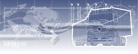 trucking: logistics theme background  Illustration