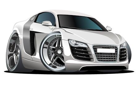 shiny car: modern cartoon car