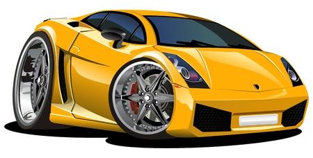course de voiture: voiture de la bande dessin�e moderne