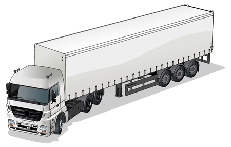 trailer: Vector cargo semi-truck Illustration