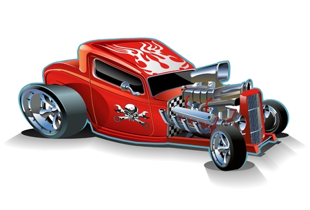 hot rod: Vector cartoon hotrod