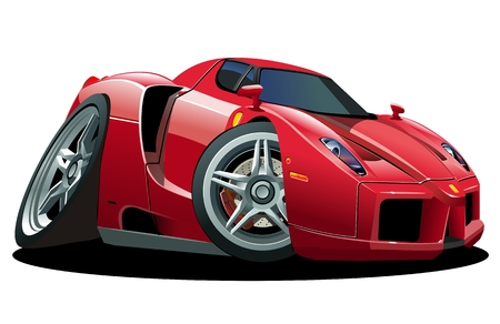 vector cartoon: Sportcar fumetto vettoriale Vettoriali